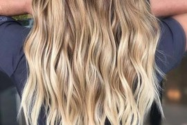 Fresh Balayage Highlights for Long Waves Hair in 2019