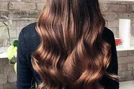 Chocolate Balayage Colored Long Waves Hair in 2020