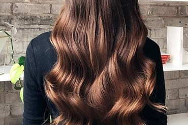 Chocolate Balayage Colored Long Waves Hair in 2020