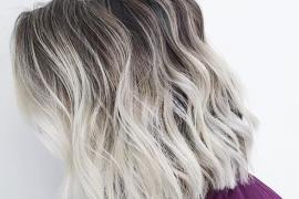 Bright Blonde Hair Color Shades with Black Roots to Show Off in 2020