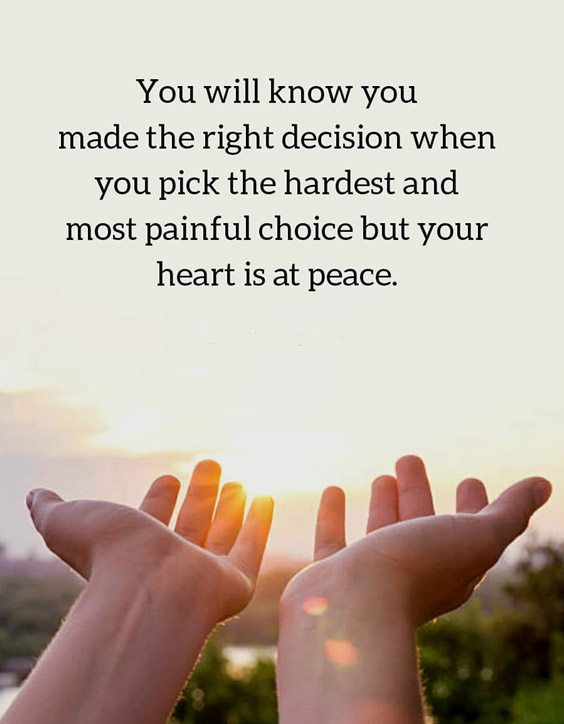 But Your Heart is at Peace - Best Quotes & Sayings