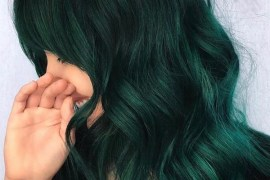 Dark Green Hair Colors and Hairstyles for Women 2020