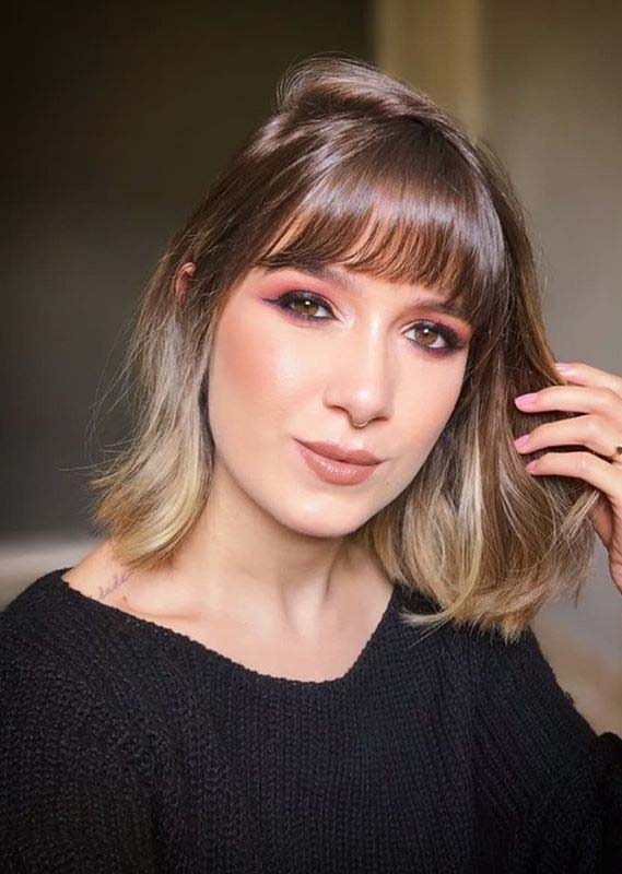 Short to Medium Haircuts with Bangs for Women 2020