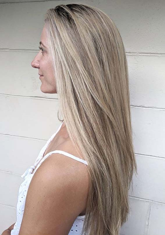 Long Sleek Straight Hairstyles to Sport in Current Year
