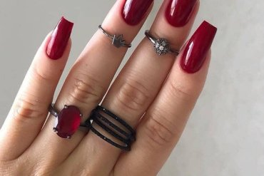 Wonderful Style of Red Nails to Copy Right Now