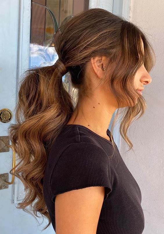 Fantastic Textured ponytail Hairstyles for Ladies in 2020