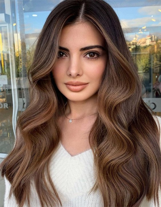 Fantastic Style of Balayage Highlights for Long Hair