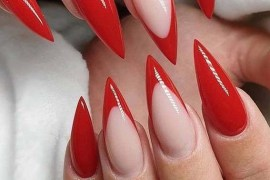 Red French Nail Arts and Designs to Follow in Current Year