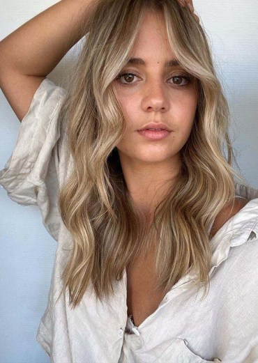 Smokey beige blonde balayage Hair Color Shades