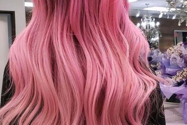 Beauiful Pink Hair Colors Highlights for Long Locks