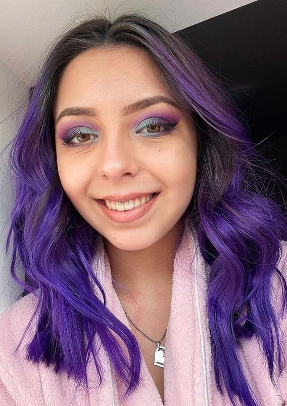 Fresh Purple Hair Color Trends to Show Off