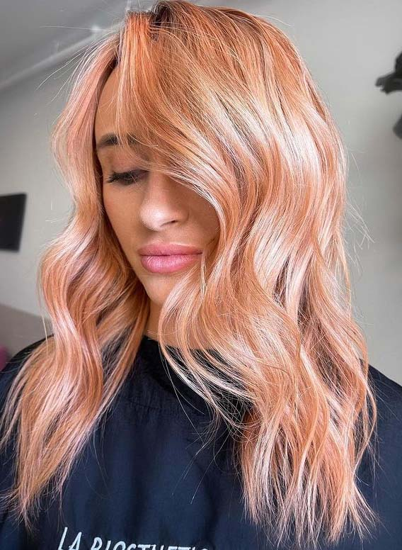 Elegant Copper Pink Hair Color Shades to Sport