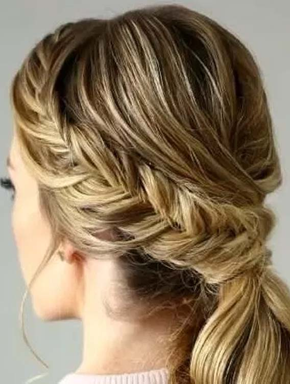 Braided Ponytail Hair for Young Girls