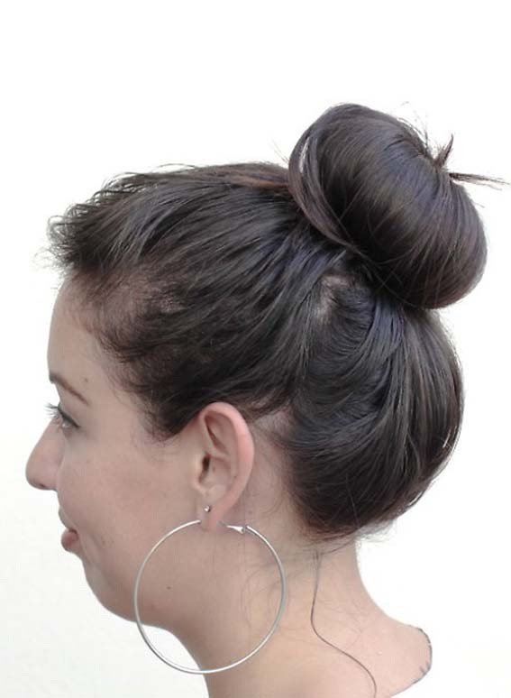 Top Knot Bun Hair for Thick Hairstyles