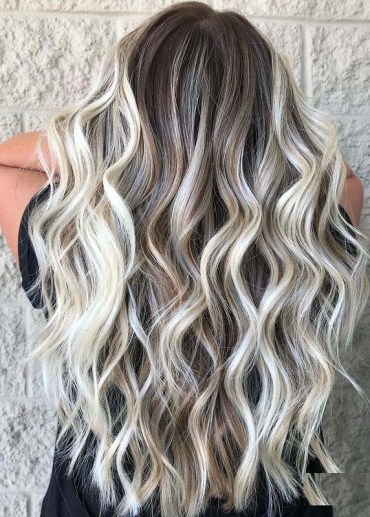 Stunning Rooty Blonde Hair Color Highlights