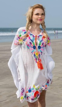 Embroidered Kaftan, $52