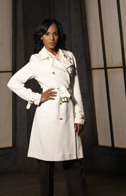 Photo courtesy of ABC. Season 3; Tory Burch Coat with gold accent buttons