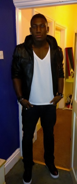 D&G Leather Jacket/ Armani Jeans/ H&M Tee/ Public Royalty Shoes/ Hublot Watch