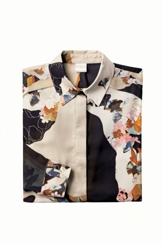 3.1 woven paper floral print blouse, $29.99