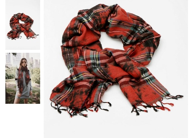 Urban Outfitters Overdyed Plaid Scarf. Plaid is in for fall, why not wear it on your neck?  You won't regret it.