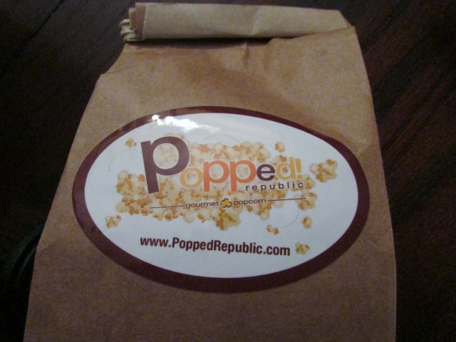 Popcorn treats were handed out for the show!