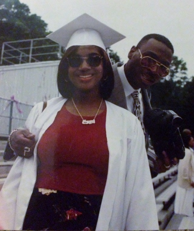 Me and my #1 homey, my dad. HS Graduation, NRHS, 1995