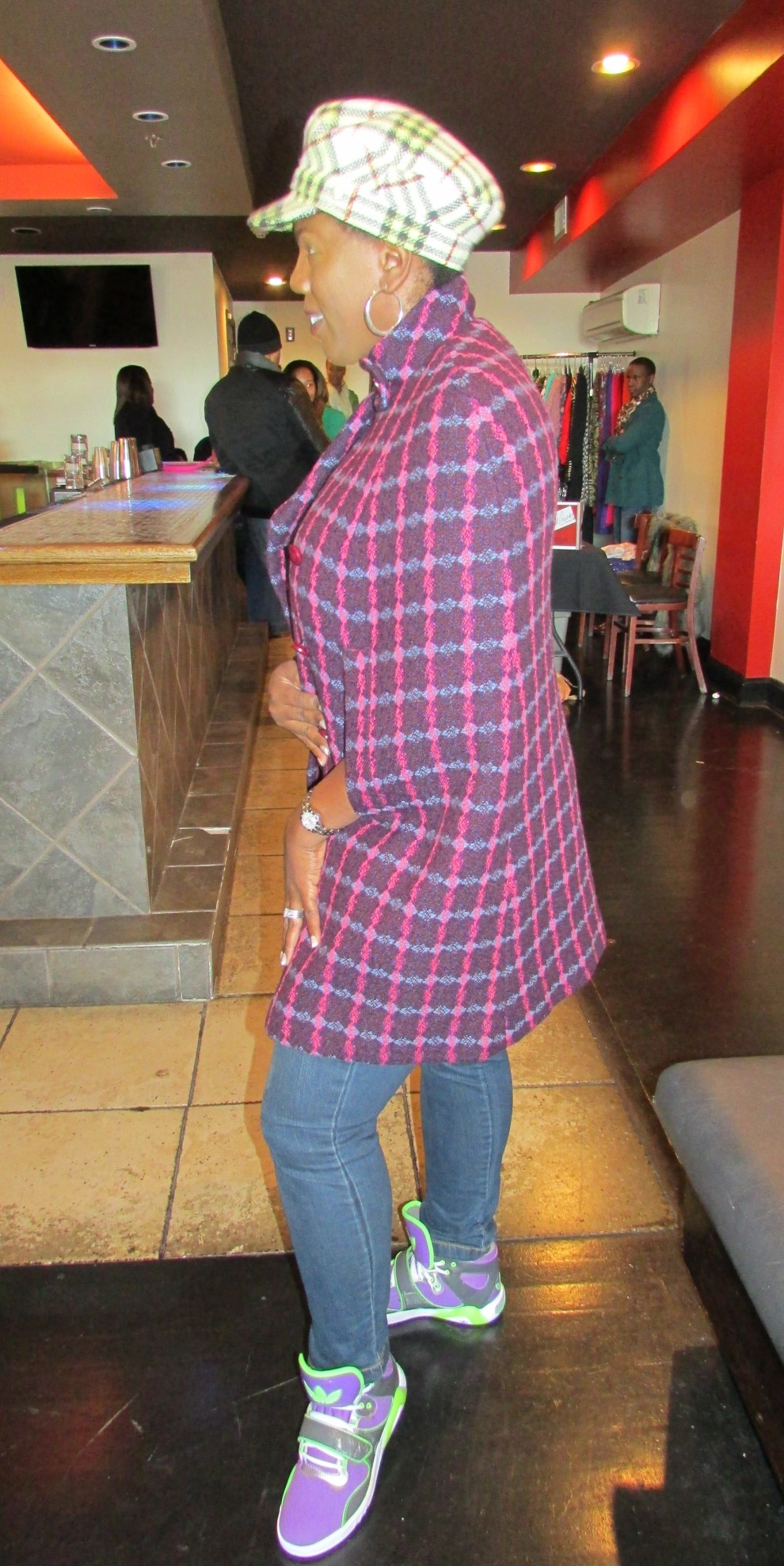 She loved this plaid cape, we did too!
