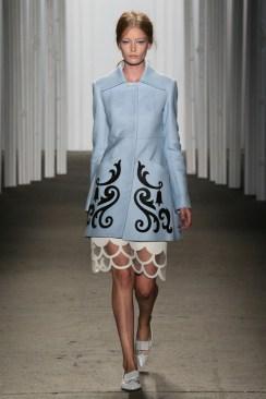 Honor_Retro Scallop Dress_Blue Coat
