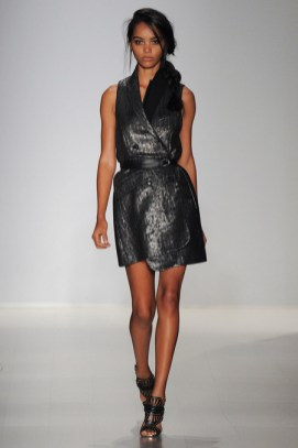 MW Black Metallic Vest Dress
