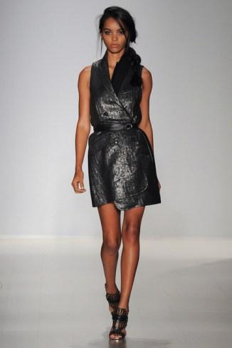 MW Black Metallic Vest Dress