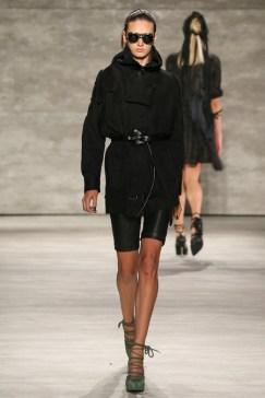 Nicholas K belted jacket_leather shorts
