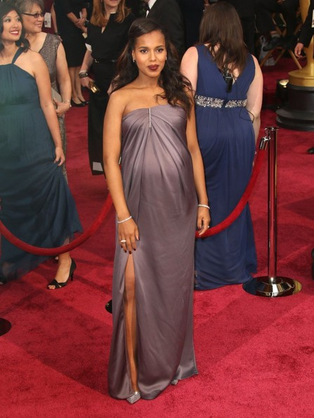 Kerry at 2014 Academy Awards in Jason Wu Photo: Fame Flynet Pics