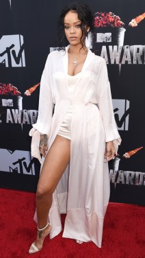 Rihanna in Ulyana Sergeenko at 2014 MTV Movie Awards Photo: Getty Images