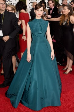 felicity-jones-golden-globes-2015-Jason-Merritt