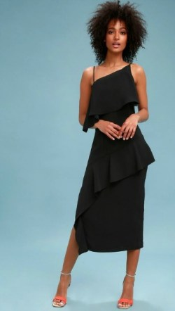 Lulu's Black Asymmetrical Dress