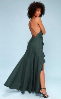 Lulu's Teal Dress (back)