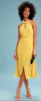Lulu's Yellow Gold Dress