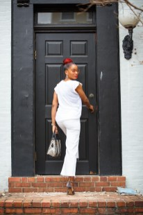 Style Stamped HM White Cropped Jeans 1