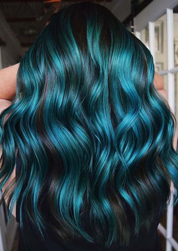 Beautiful aquamarine hair color ideas for women in 2020