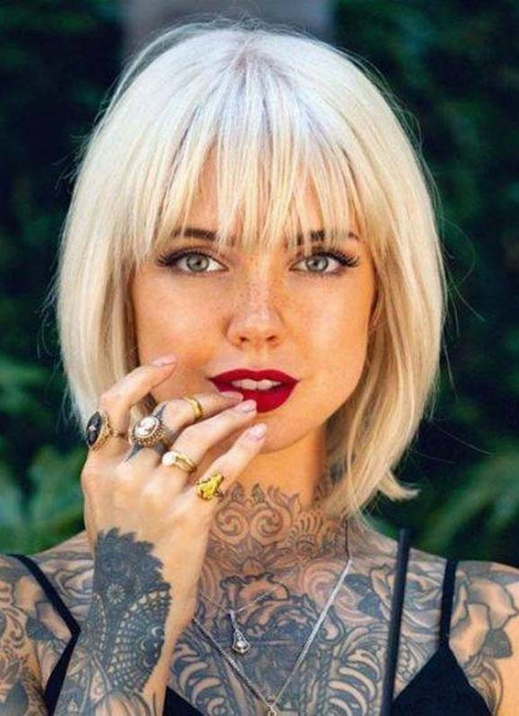 Best Short Bob Haircuts with Bangs for Women in Year 2020