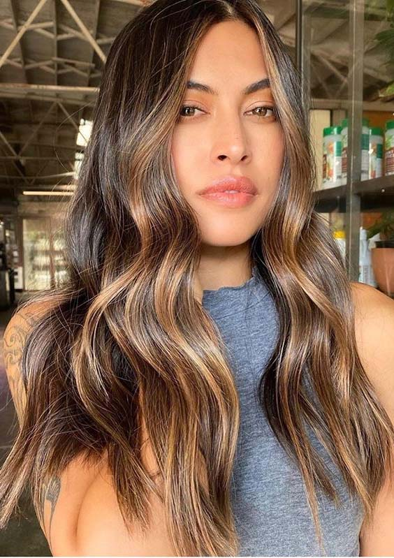 Latest Warm Balayage Hair Color Shades for Women 2020