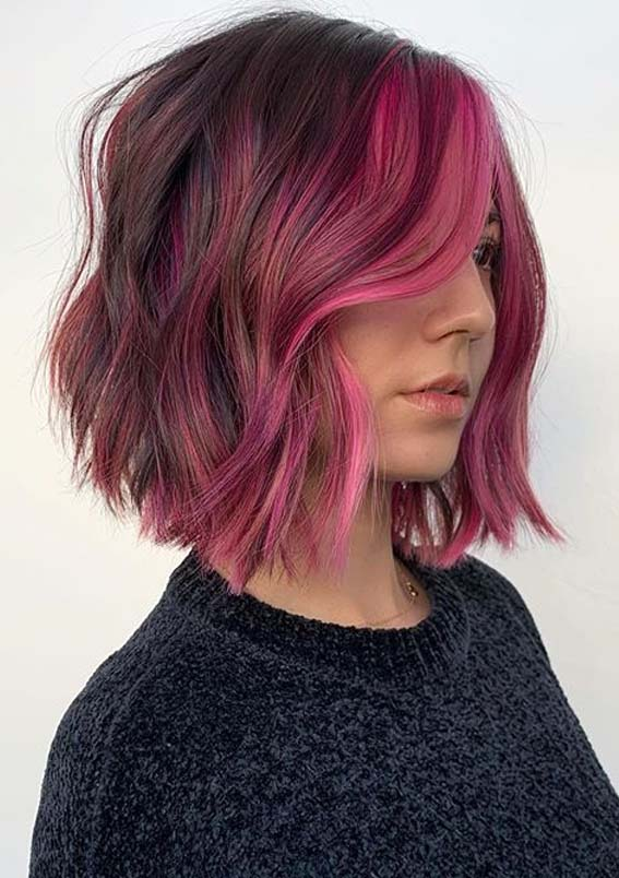 Marvelous Pink Bob Haircuts for Short Hair to Sport in 2020