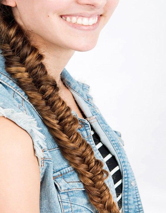 Herringbone Braided Long Hairstyles
