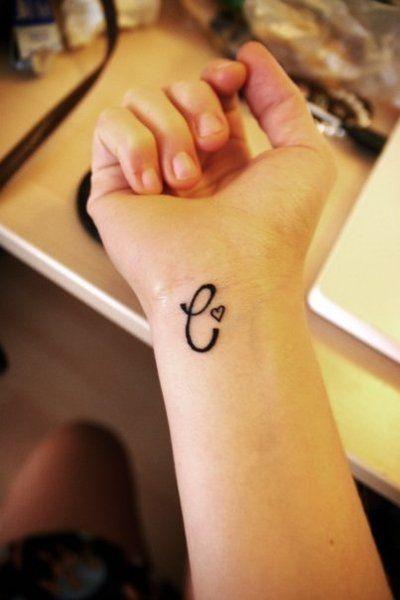 Initials Tattoos On Wrist : initials, tattoos, wrist, Initial, Tattoo, Designs, Permanent, Tattoos, Loved, StylesWardrobe.com