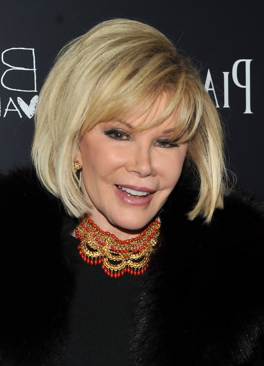 Joan Rivers Short Hairstyle For Older Women Over 60 Styles Weekly