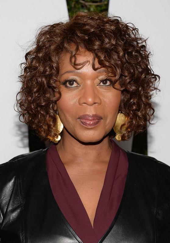 Alfre Woodard Short Curly Hairstyles African American Women