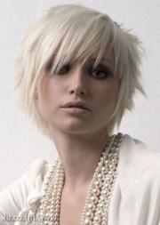 cute short blonde emo haircut
