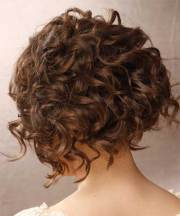 graduated bob haircut curly