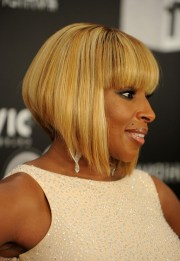 side view of mary . blige inverted