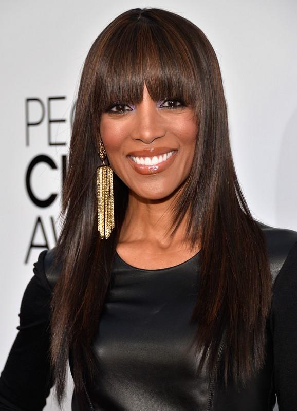 African American Highlight Long Sleek Straight Hairstyle